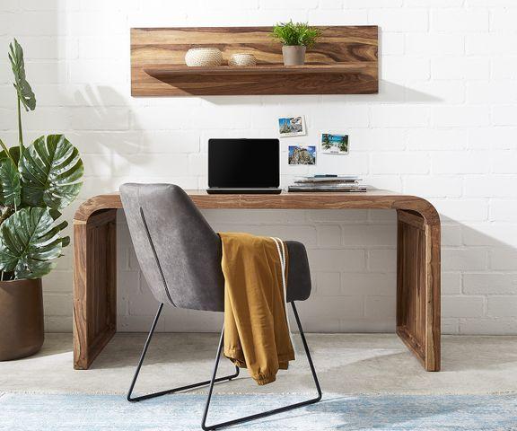 Wally-bureau 160x75 cm sheesham natuur massief hout 1