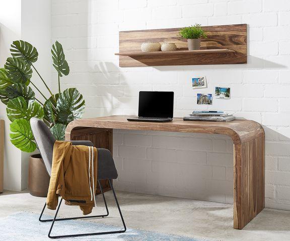Wally-bureau 160x75 cm sheesham natuur massief hout 2