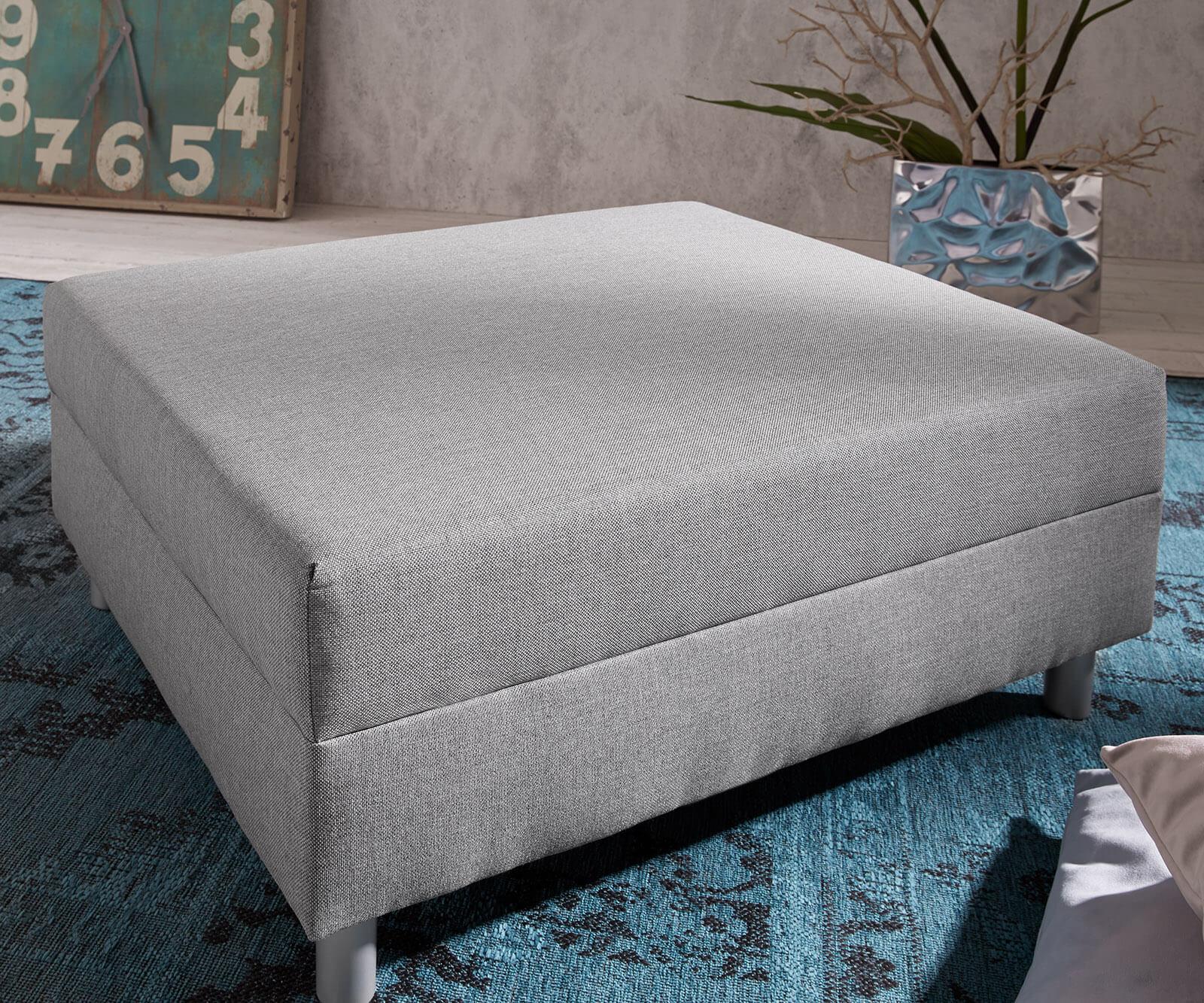 sofa hocker clovis grau modul b98 x t83 flachgewebe sitzhocker. Black Bedroom Furniture Sets. Home Design Ideas