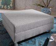Sofa Hocker Clovis Grau Modul  B98 x T83 Flachgewebe Sitzhocker  [19659]