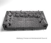 Sofa Hocker Clovis Schwarz Modul B98 x T83 Strukturstoff Sitzhocker [19661]