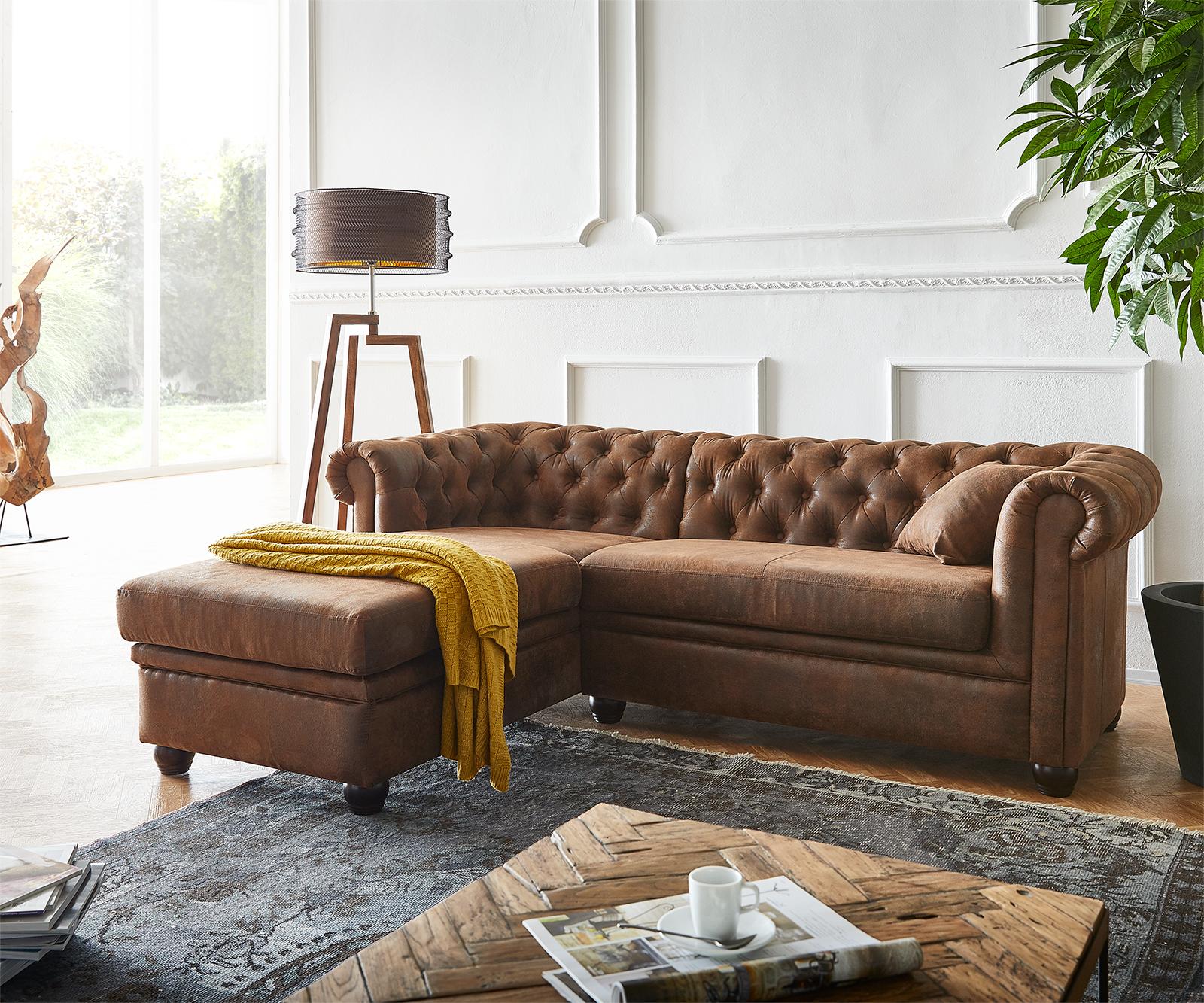 delife-sofa-chesterfield-200x88-cm-braun-abgesteppt-ottomane-links-chesterfields
