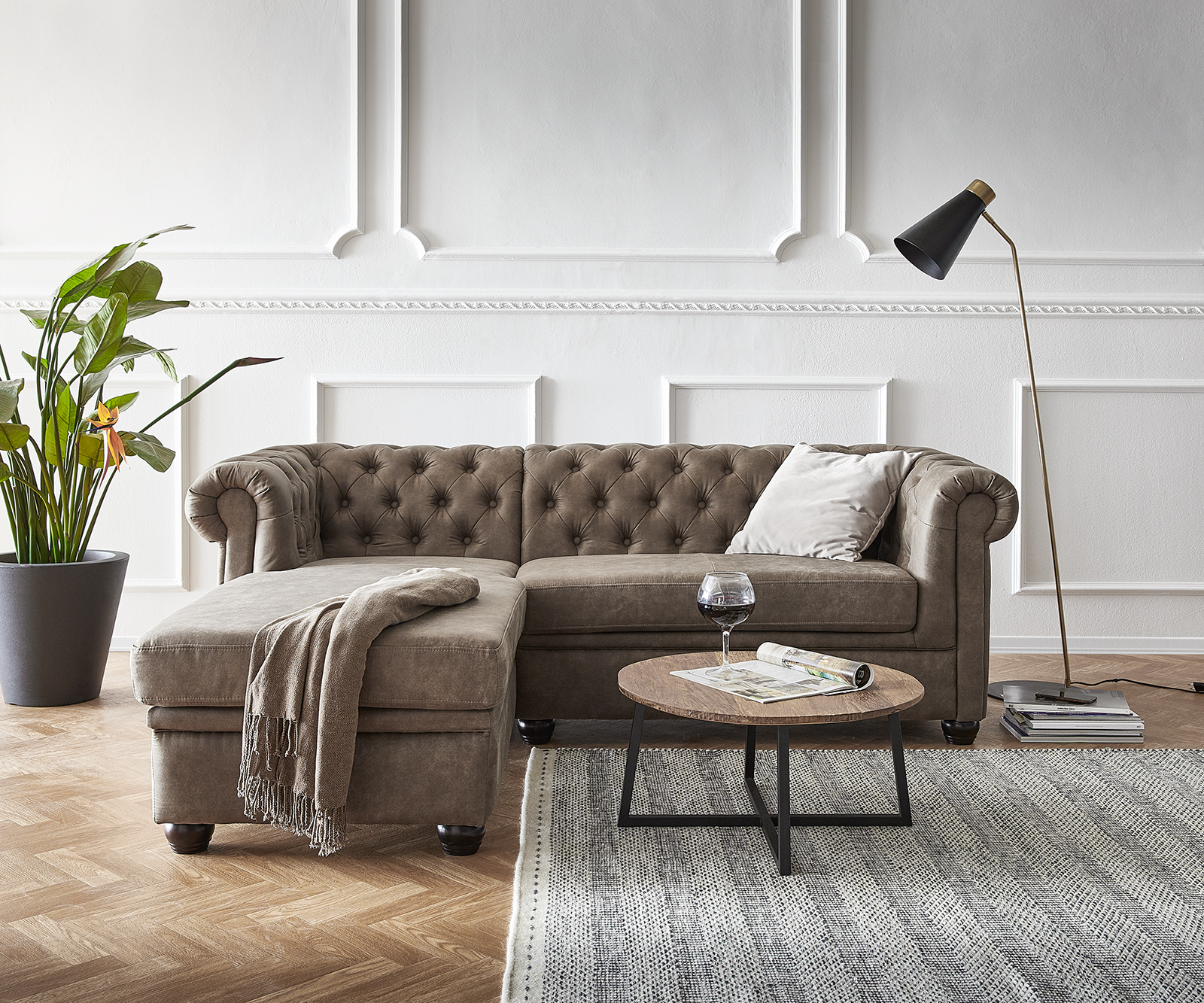 delife-sofa-chesterfield-200x88-cm-taupe-abgesteppt-ottomane-links-chesterfields