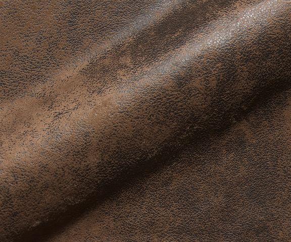 Hoekbank Chesterfield 260x200 cm bruin gestikt ottomaan rechts 3