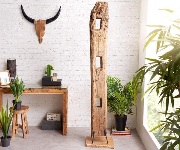 Decoratie Belka Balken XL teakhout natuurlijk unicum massief hout 1