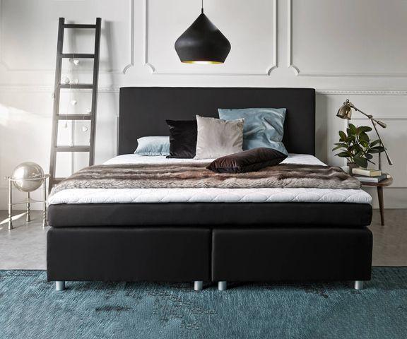 Boxspring-bed Paradizo 180x200 cm zwart topper en matras  2