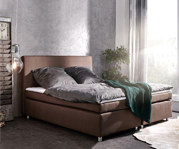 Boxspring-bed Paradizo 180x200 cm bruine topper en matras vlakgeweven  1
