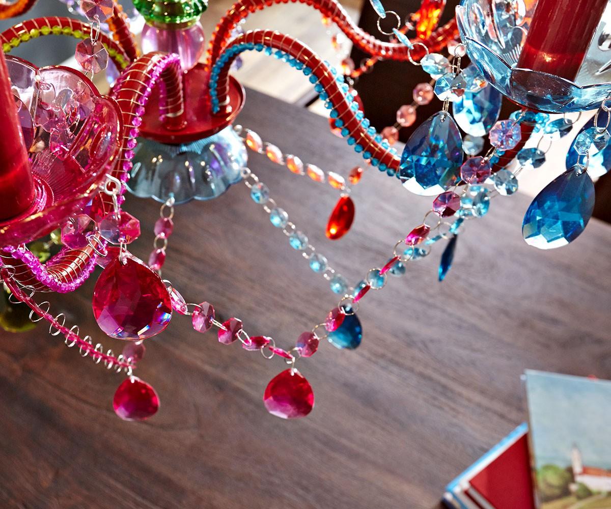 Kronleuchter Gypsy Starlight Multi Rainbow Bunt 55 Cm Hängeleuchte [1590]