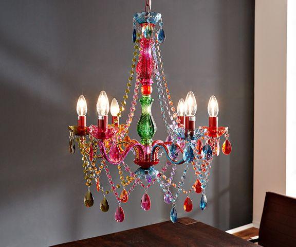 Kroonluchter Gypsy 55 cm sterlicht-multi-rainbow gekleurd 1
