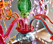 Kronleuchter Gypsy Starlight-Multi-Rainbow Bunt 55 cm Hängeleuchte [1590]