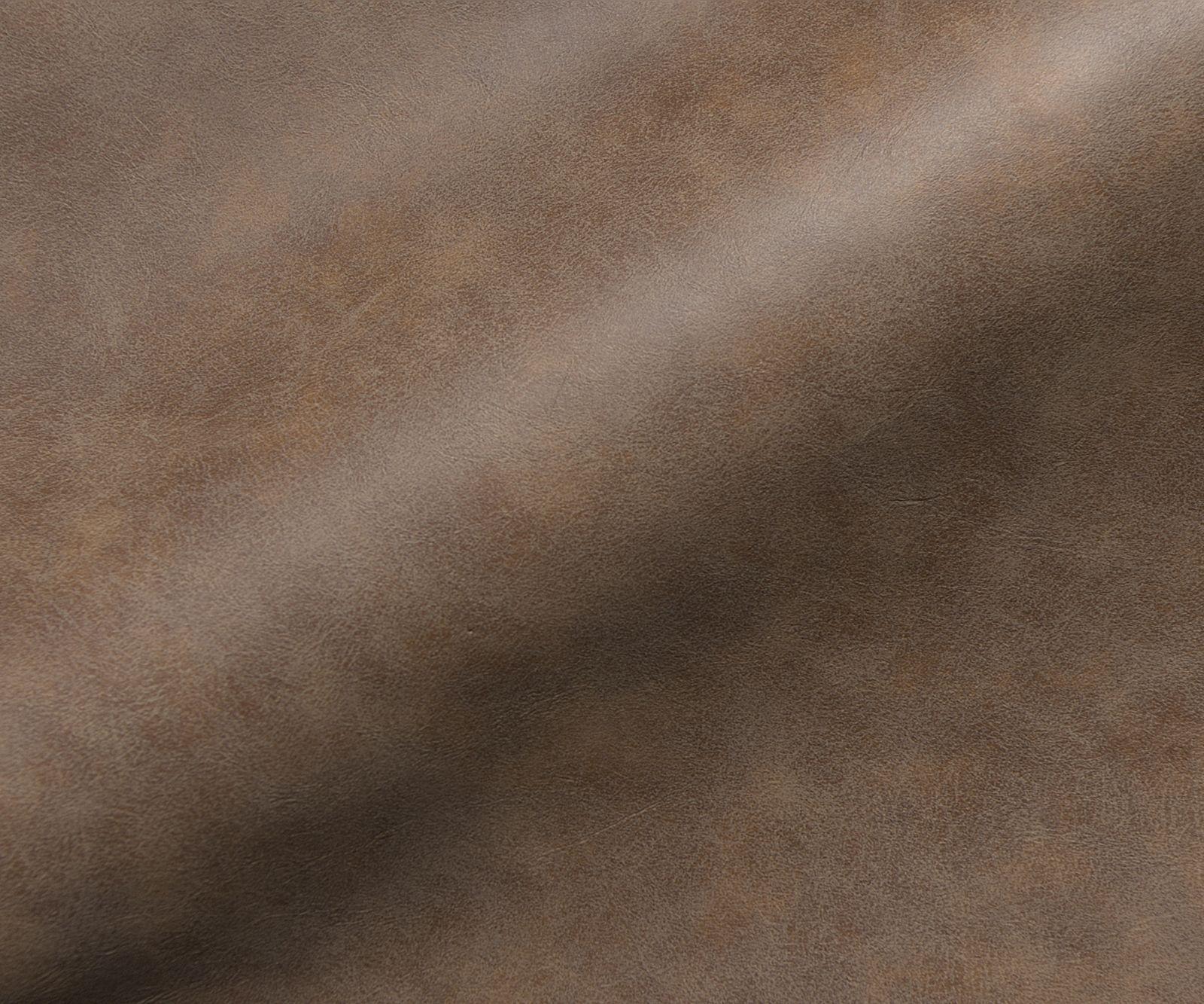 Stuhl Maddy Flex 4 Fuß oval Edelstahl Vintage Braun Kunstleder
