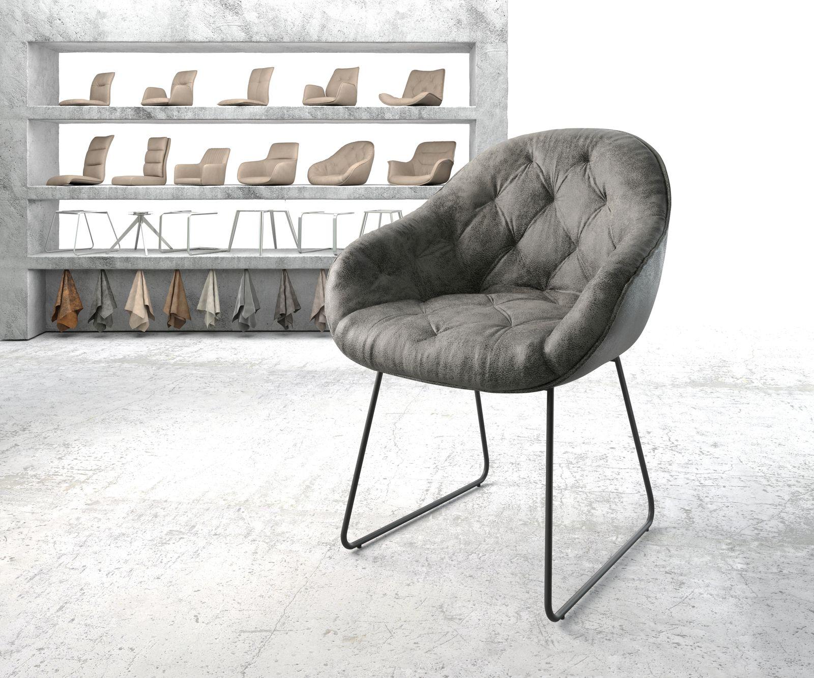 delife-armlehnstuhl-gaio-flex-grau-vintage-kufengestell-schwarz-esszimmerstuhle