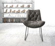 Stuhl Taimi-Flex Kufengestell Schwarz Vintage Grau [20584]