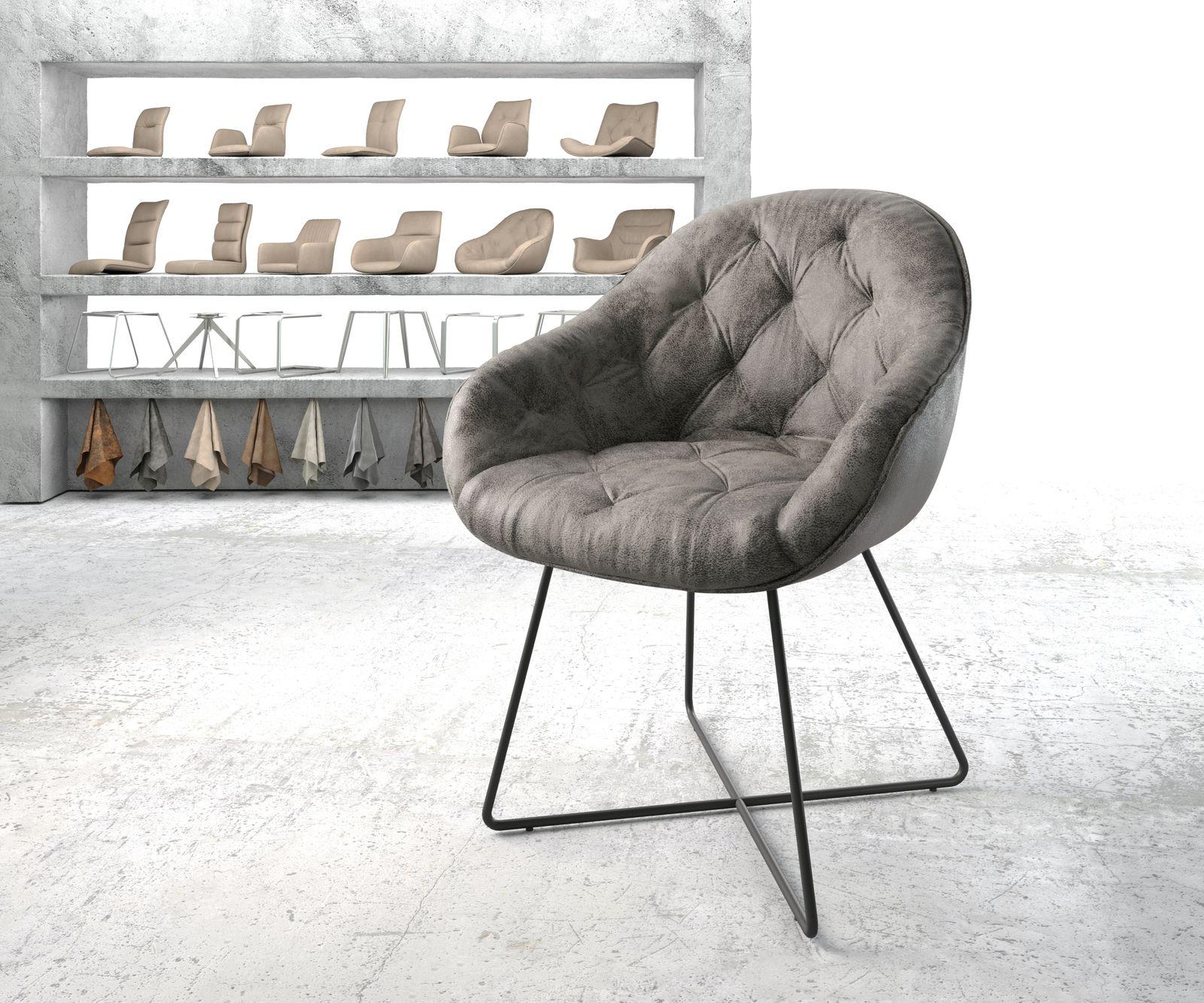 delife-armlehnstuhl-gaio-flex-grau-vintage-x-gestell-schwarz-esszimmerstuhle