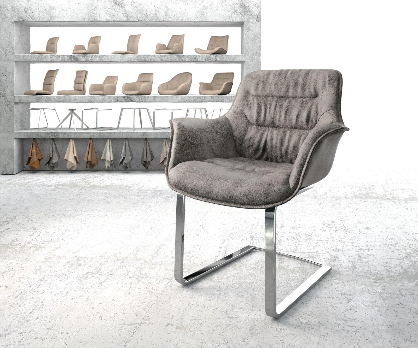 delife-armlehnstuhl-kaira-flex-grau-vintage-freischwinger-flach-verchromt-esszimmerstuhle