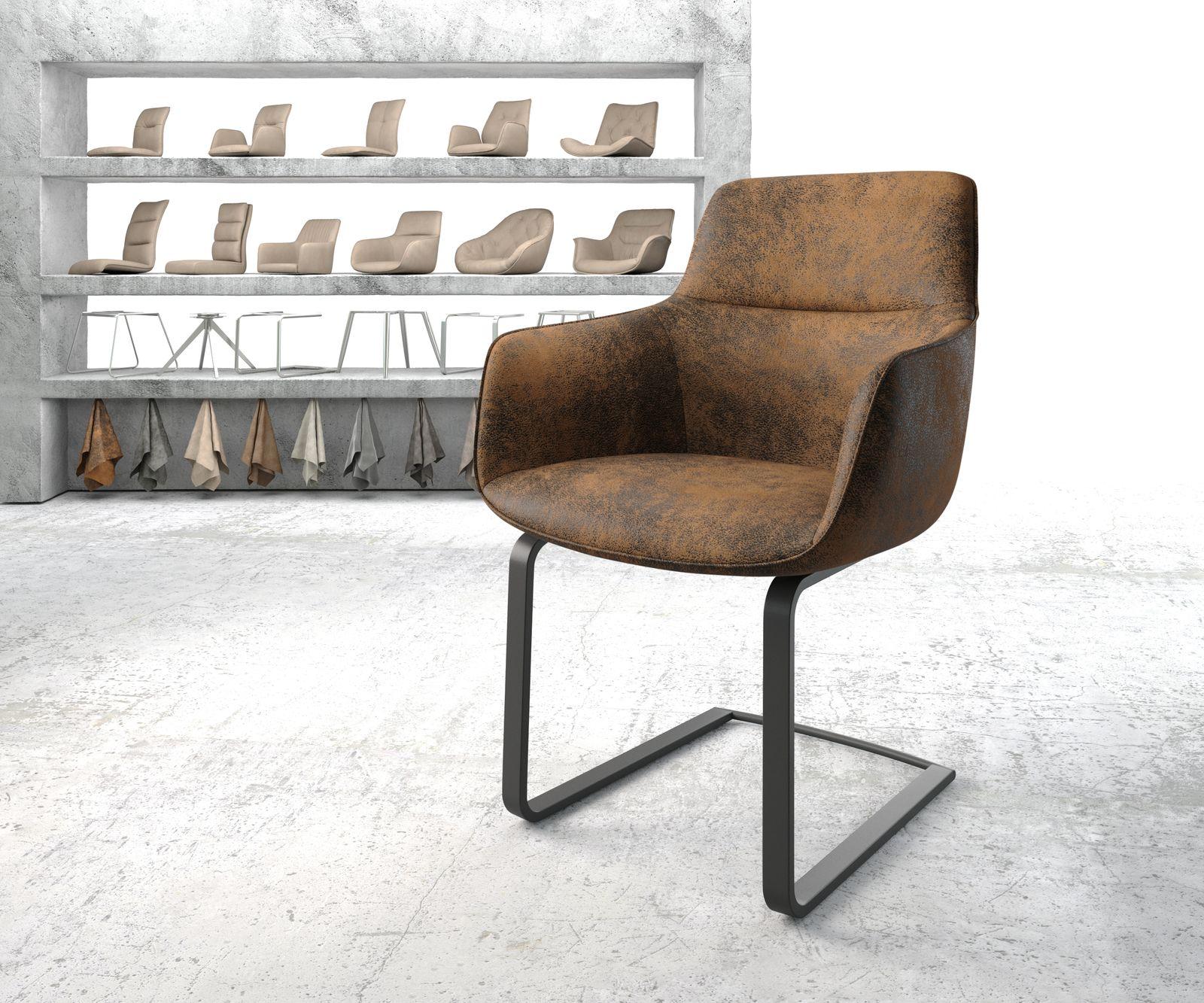 delife-esszimmerstuhl-pejo-flex-braun-vintage-freischwinger-flach-schwarz-esszimmerstuhle, 109.90 EUR @ delife-de