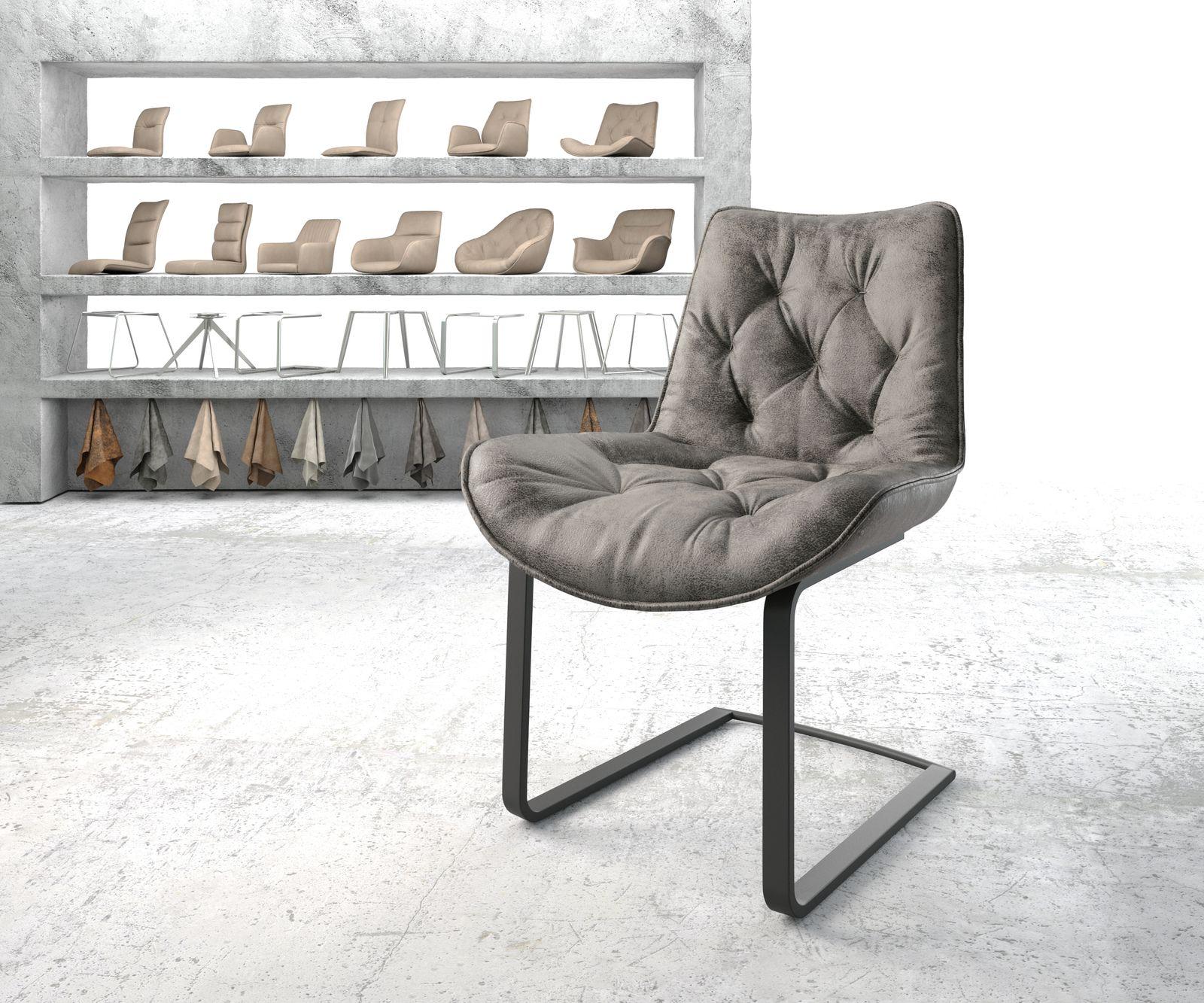 delife-esszimmerstuhl-taimi-flex-grau-vintage-freischwinger-flach-schwarz-esszimmerstuhle