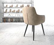 Stuhl Pejo-Flex 4-Fuß konisch Schwarz Vintage Beige [20865]