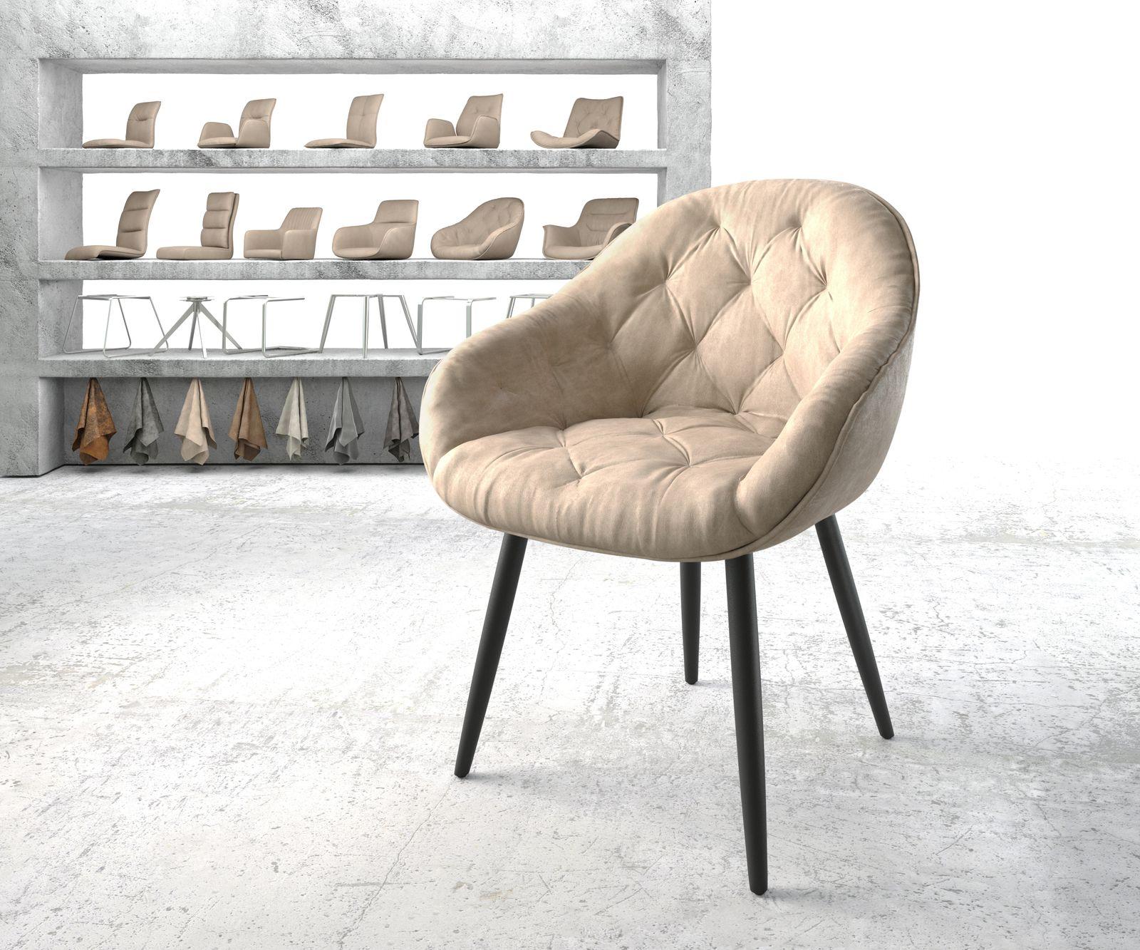 delife-armlehnstuhl-gaio-flex-beige-vintage-4-fu-konisch-schwarz-esszimmerstuhle