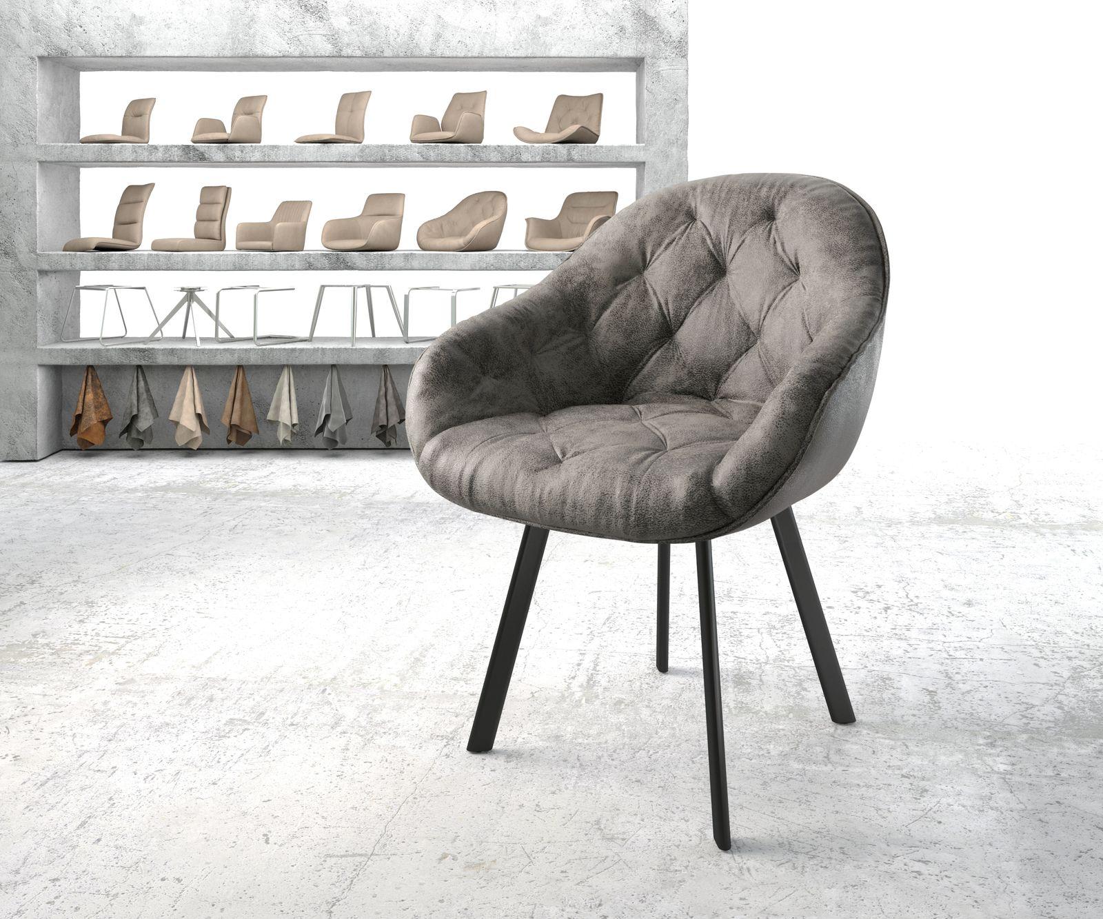 delife-armlehnstuhl-gaio-flex-grau-vintage-4-fu-oval-schwarz-esszimmerstuhle