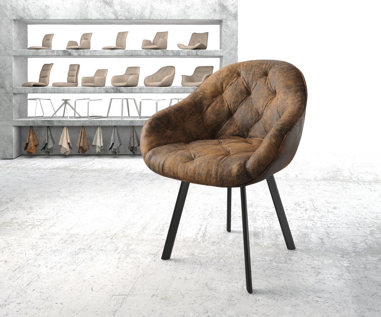 delife-armlehnstuhl-gaio-flex-braun-vintage-4-fu-oval-schwarz-esszimmerstuhle