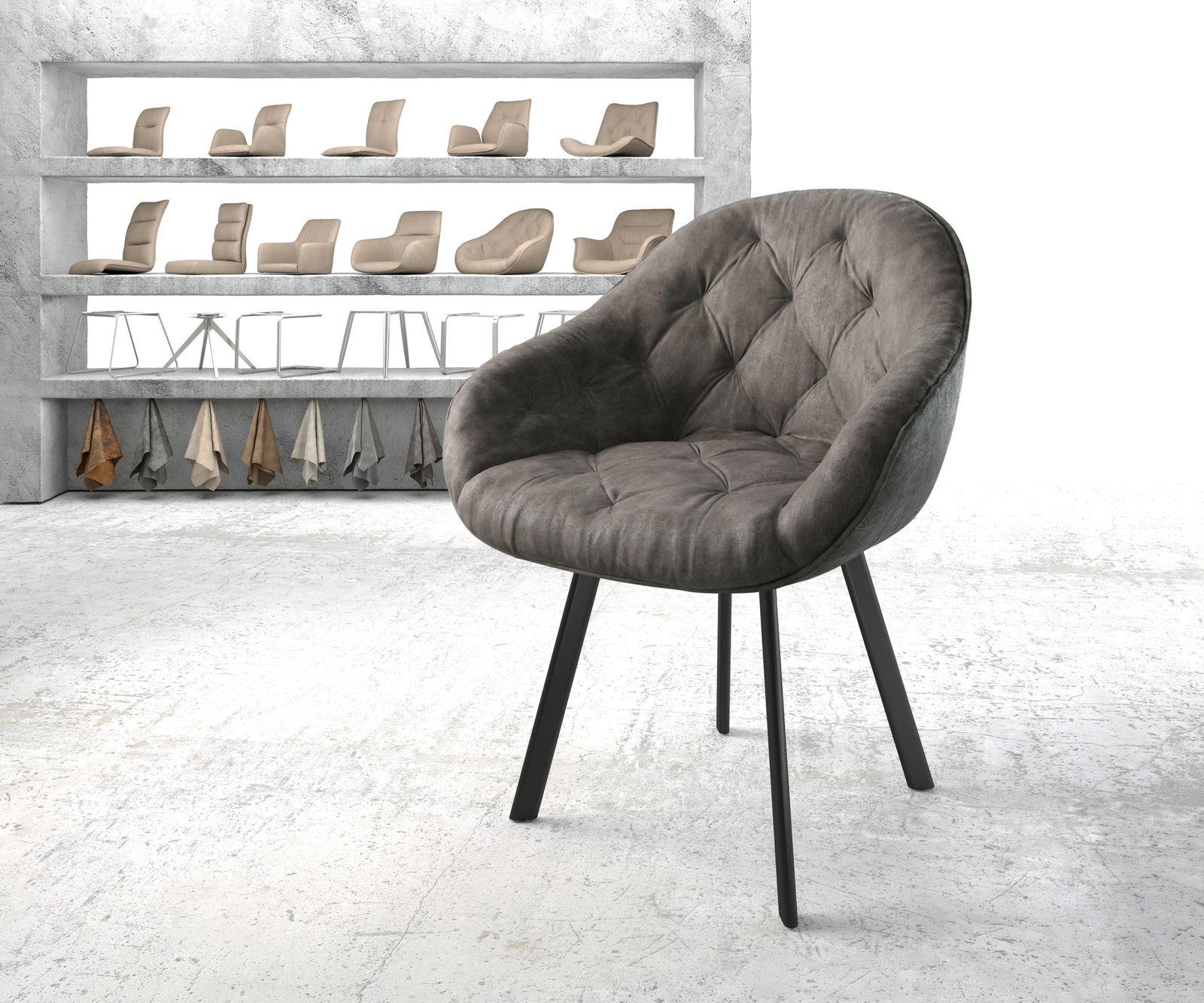 delife-armlehnstuhl-gaio-flex-anthrazit-vintage-4-fu-oval-schwarz-esszimmerstuhle
