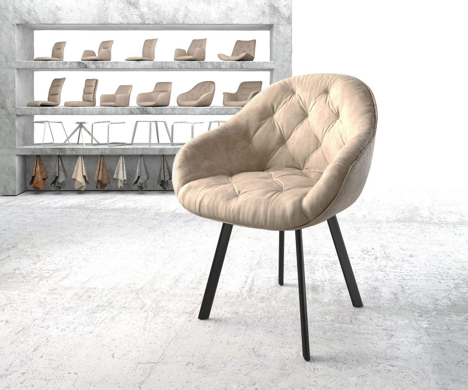 delife-armlehnstuhl-gaio-flex-beige-vintage-4-fu-oval-schwarz-esszimmerstuhle