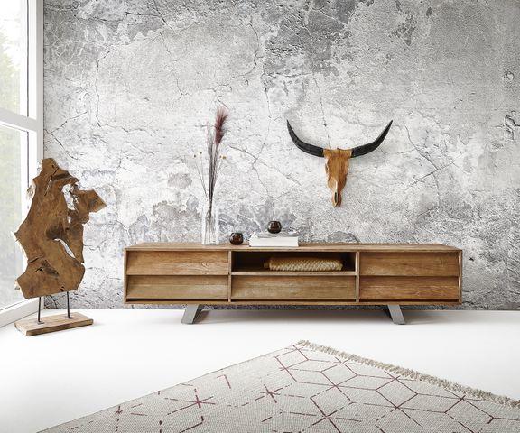 Tv-meubel Eloi 200x40 cm natuur Exotic wood 1 vak 5 schuifladen 1