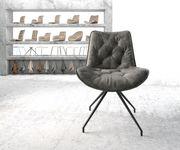 Drehstuhl Taimi-Flex Kreuzgestell konisch Schwarz Vintage Grau [21763]
