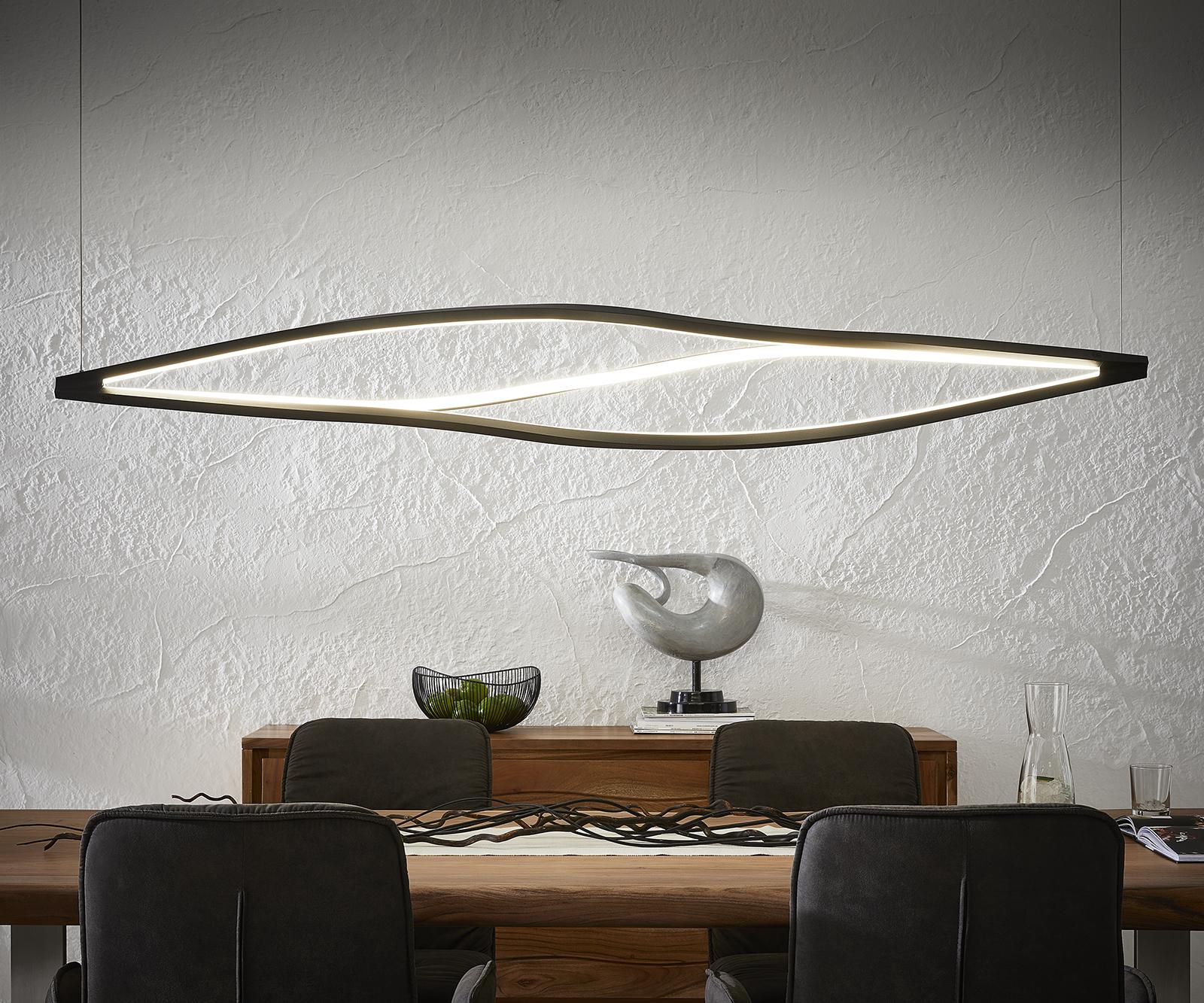 Deckenleuchte Gabbiano 178x144x27 cm schwarz LED 86W Designlampe