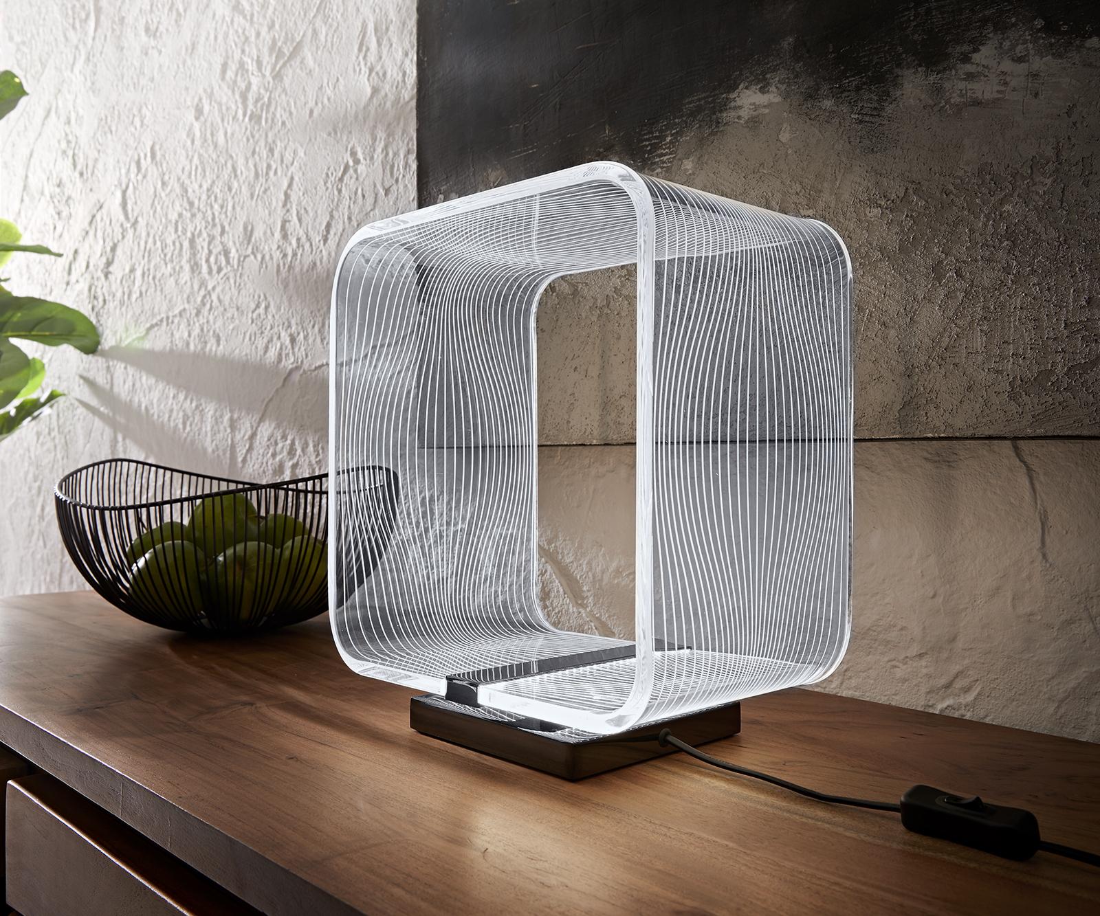 Tischleuchte Scatola 29x18x32 cm transparent LED 6W Tischlampe