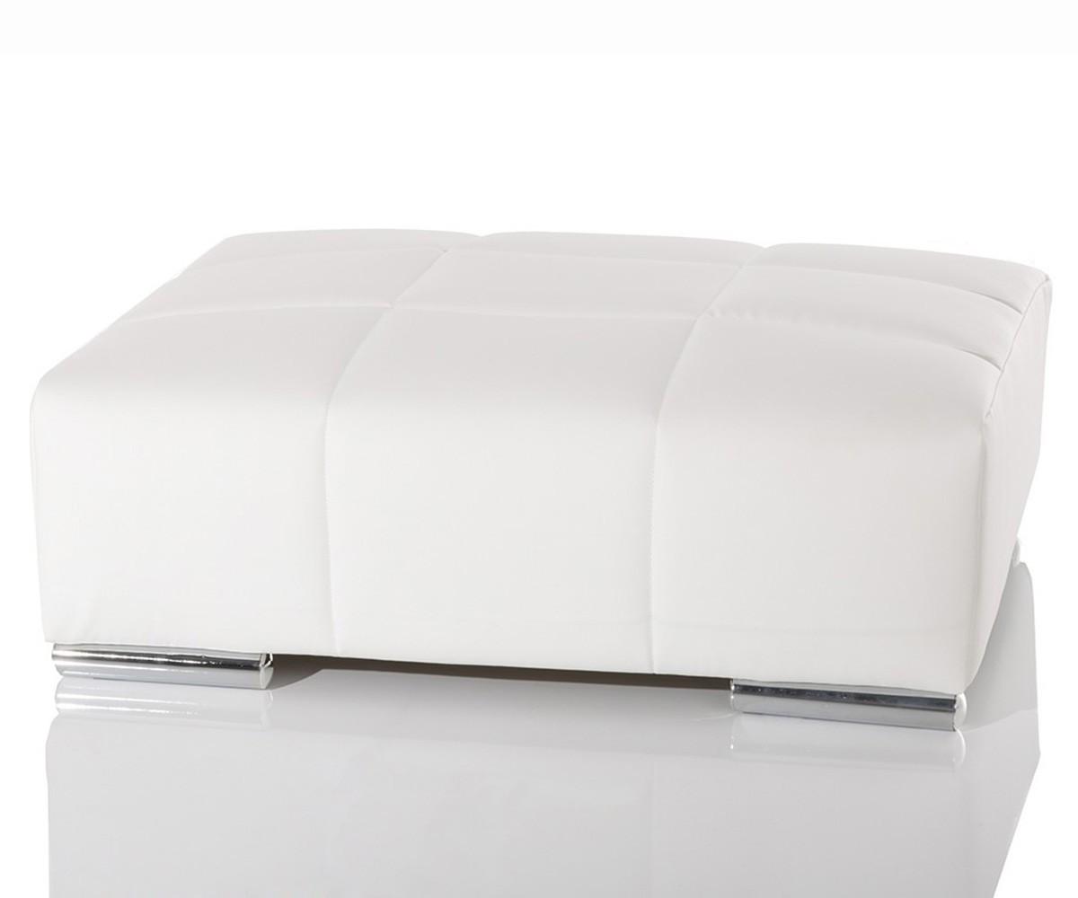 couch marbeya weiss 285x115 cm inklusive hocker und kissen big sofa by delife ebay. Black Bedroom Furniture Sets. Home Design Ideas