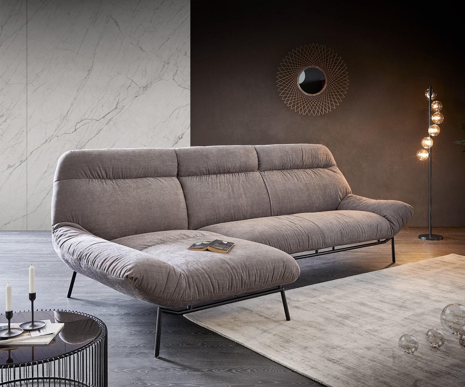 Ecksofa Shape High 305x160 Steingrau Longchair links by ES brand