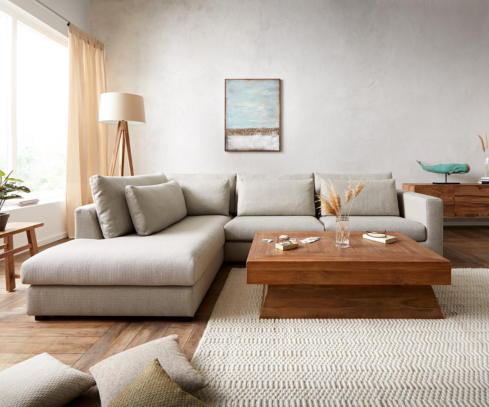 Canapé d'angle 2 places Noir Tissu Confort Original