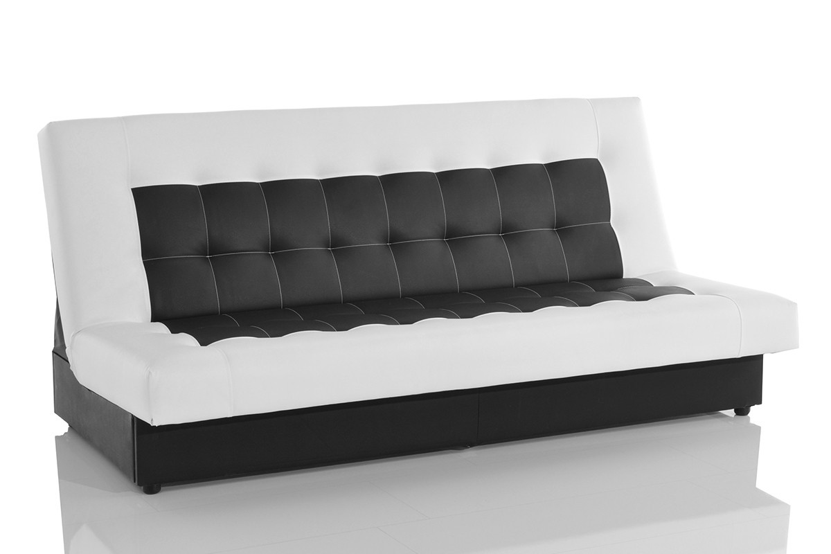 schlafsofa bulgur 182x81 schwarz weiss schlaffunktion. Black Bedroom Furniture Sets. Home Design Ideas