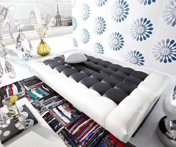 Slaapbank Bulgur 182x81 zwart wit slaapfunctie 2