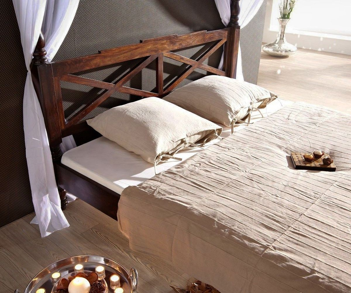 himmelbett bombay 180x200 kolonial sheesham by wolf m bel. Black Bedroom Furniture Sets. Home Design Ideas