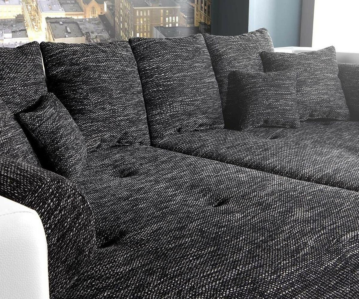 xxl sofa marlen schwarz weiss 300x140 cm bigsofa. Black Bedroom Furniture Sets. Home Design Ideas