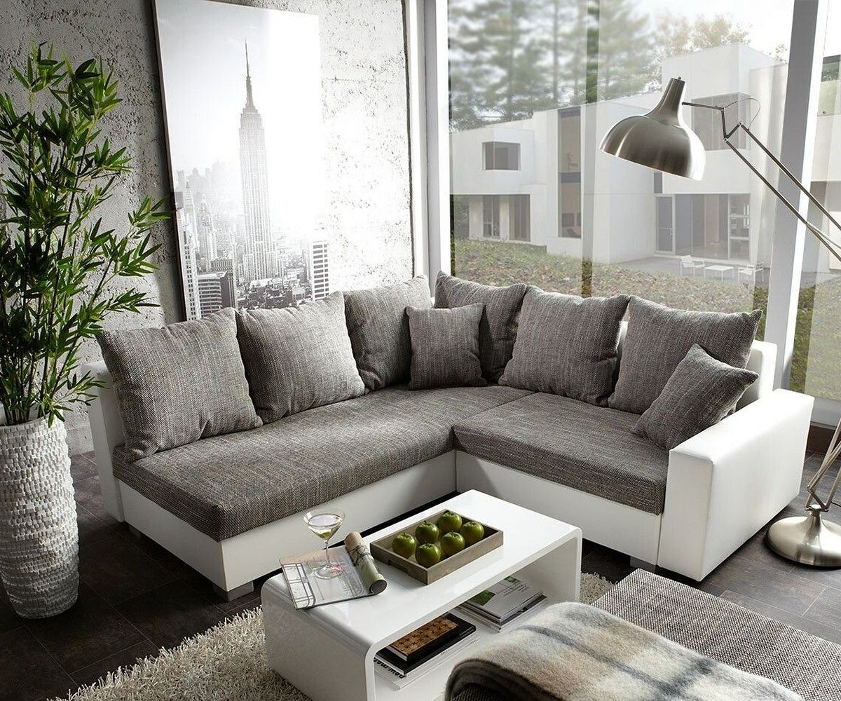 wohnzimmer grau sofa. Black Bedroom Furniture Sets. Home Design Ideas