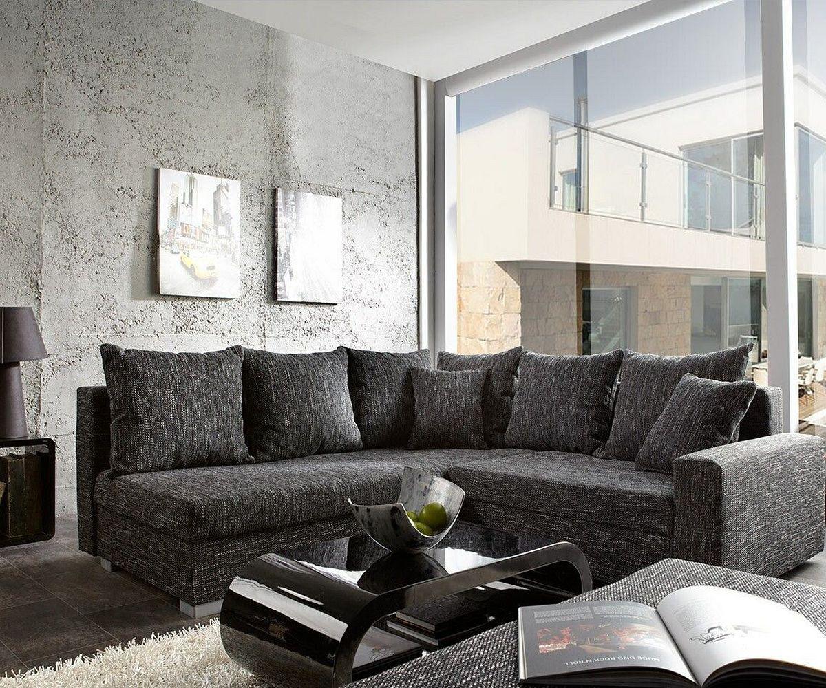 Ecksofa lavello 210x210 schwarz sofa mit hocker m bel for Schwarzes ecksofa