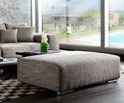 XXL-Couch Marbeya Hellgrau 285x115 inklusive Hocker Big-Sofa [5629]