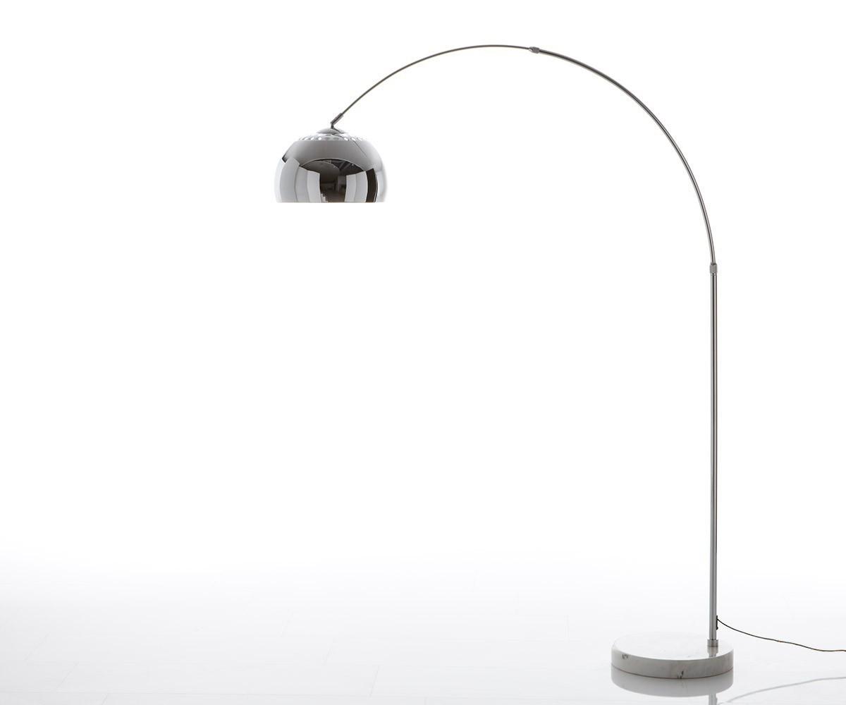 Big-Deal Eco zilveren marmer booglamp hoogte verstelbaar