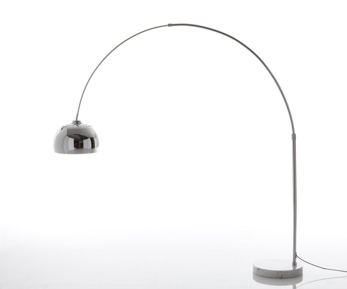 DELIFE Bogenleuchte Big-Deal XL Silber dimmbar höhenverstellbar, Stehleuchten