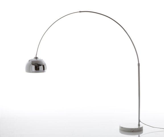 Booglamp Big-Deal XL zilver dimbaar in hoogte verstelbaar 1