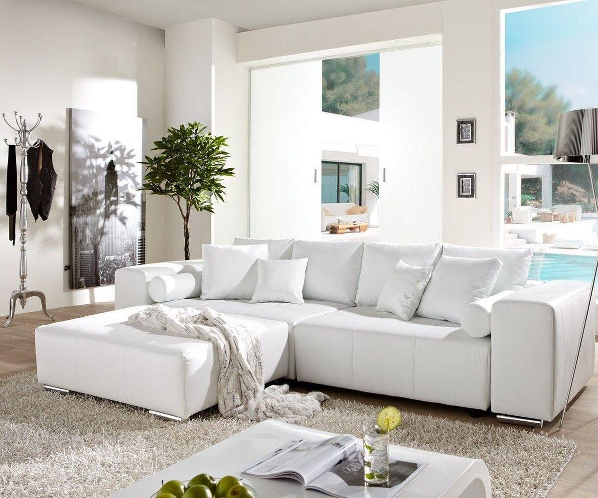 How Big Is A Couch: Big-Sofa Marbeya 290x110cm Weiss Mit Schlaffunktion Möbel