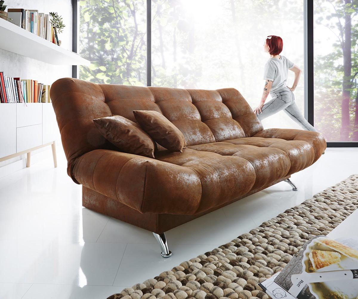 schlafsofa viol 190x90 cm braun antik optik bettkasten m bel sofas schlafsofas. Black Bedroom Furniture Sets. Home Design Ideas
