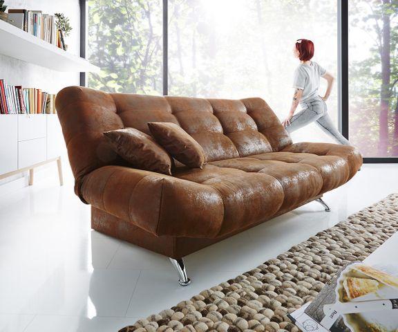 Slaapbank Viol 190x90 cm bruin antiek look bedframe 2