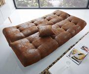 Bettsofa Viol Braun 190x90 cm mit Bettkasten Schlaffunktion Schlafsofa [6701]