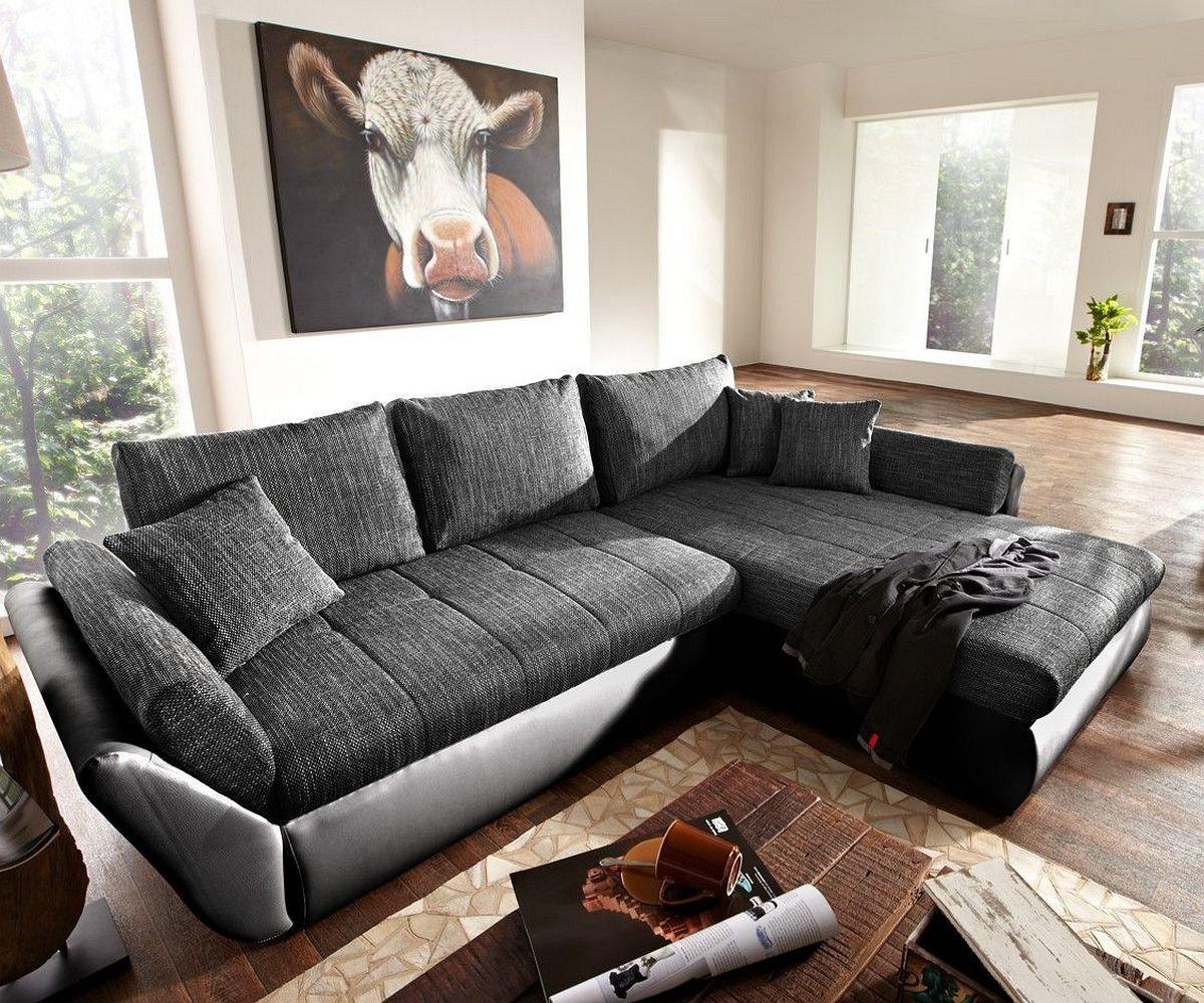ledercouch schwarz mit schlaffunktion. Black Bedroom Furniture Sets. Home Design Ideas