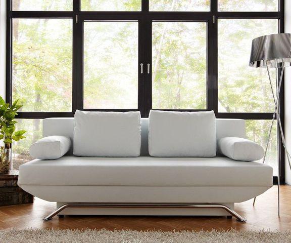 Slaapbank Cady 200x90 cm wit bankstel met slaapfunctie 1